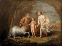 l'éducation d'achille par le centaure chiron by pierre nicolas legrand de lérant