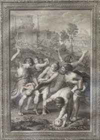 le christ chez emmaüs et le massacre des innocents, deuxième moitié xviiie siècle (pair) by angelo campanella