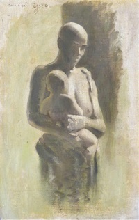 study of a mother and child by michael ayrton