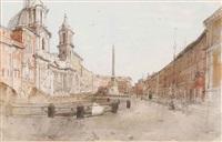 piazza navona, rome by john stanton ward