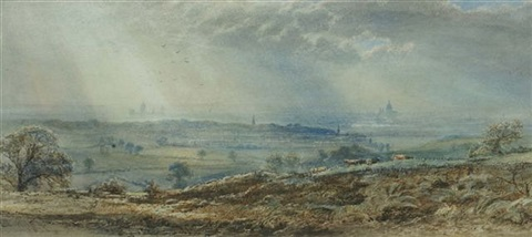 view of london from forest hill by leonidas clint miles