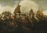 seeschlacht zwischen der neuen spanischen armada und den niederländern vor dünkirchen by hendrik cornelisz vroom