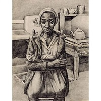 untitled (woman in kitchen) by david fredenthal