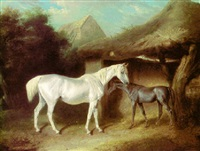 the stable yard by edward walter webb