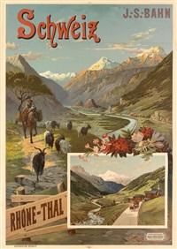 schweiz/rhone - thal by frederic hugo d' alesi
