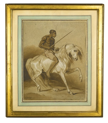 a warrior on horseback by nicolas toussaint charlet