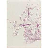 surrealist drawing, diego by frida kahlo