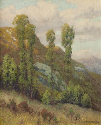mountainside, san diego foothills landscape by maurice braun