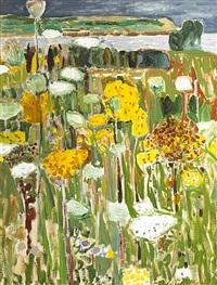 wild flowers at breton cape by alexey krasnovsky