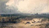 animaux au bord de l'étang by newton (smith limbird) fielding