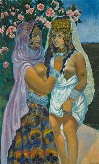 avant le mariage (pair) by georges manzana-pissarro