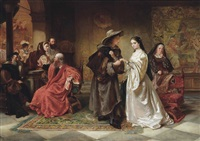 romeo and juliet meeting at the capulets ball by robert alexander hillingford