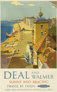 deal and walmer, british railways by frank sherwin