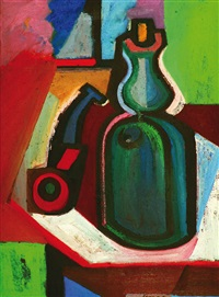 still life with a pipe by karel vaca