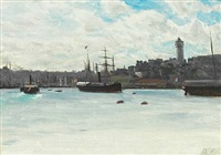 harbour scene from beirut by lev felixovich lagorio