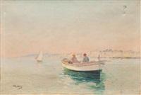barque de pêcheurs en méditerranée by louis nattero