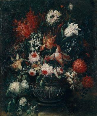 ein blumenstrauß in einer vase by mario nuzzi