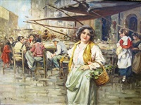at an italian market by giuseppe pitto