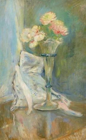 anémones roses by berthe morisot