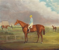 maid of monton, last race meeting, heaton park by francis calcraft turner