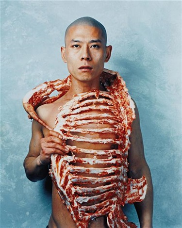 1/2 (meat) by zhang huan