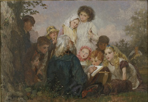 children in the forest by george elgar hicks