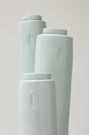three tall lidded vessels by edmund de waal