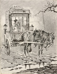 the postal wagon by jaroslav friedrich julius vesin