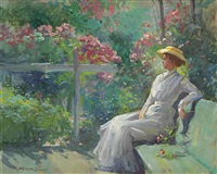 lady in the garden by abbott fuller graves