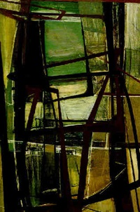 abstract in brown and green by margaret (margo) hetty lewers