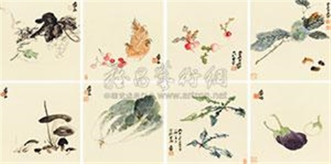 蔬果册 the vegetable and fruit album w8 works by zhang daqian