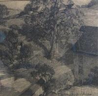 hillside landscape by charles schell corson
