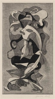 abstract figures (from the primevals portfolio) by james goetz