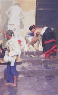 after morning bath - pashupatineth by kang cho