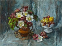 red and white helebores by mary nicol neill armour