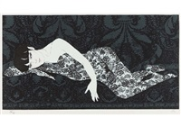 nude in black-rose lace 2 by matazo kayama