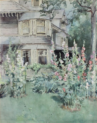 summer garden with snapdragons by colin campbell cooper