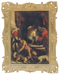the parable of dives and lazarus by antonio da ponte bassano