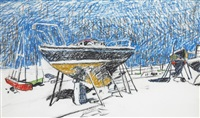 boatyard by maurice macgonigal
