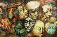 mask and faces by juvenal sanso