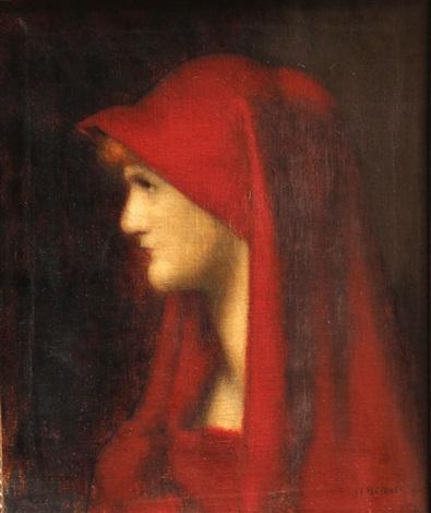 retrato de mujer de perfil by jean jacques henner