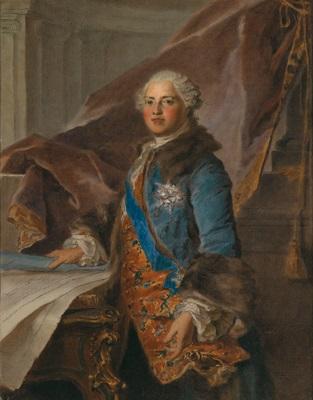 porträt des marquis de marigny by louis tocqué