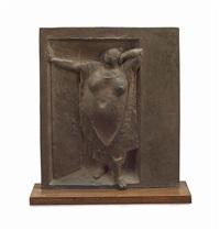 mujer en la puerta by francisco zúñiga