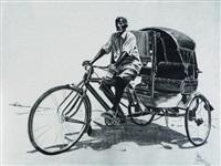le conducteur de pousse- pousse by patrice serres