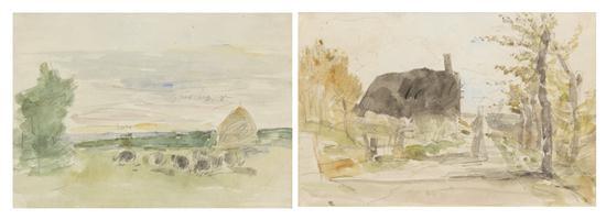 provincial landscapes pair by eugène boudin