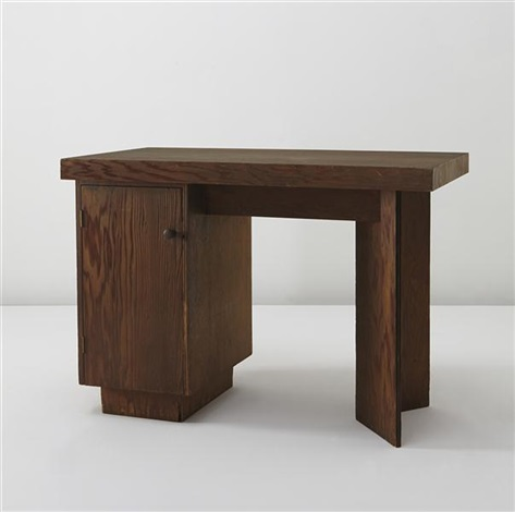 bedroom desk, designed for the j.a. sweeton house, cherry hill, new jersey by frank lloyd wright