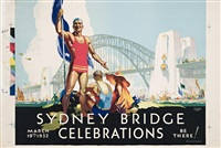 sydney harbour bridge celebrations by douglas annand and arthur whitmore