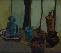 tabletop still life (+ another, verso) by joseph solman