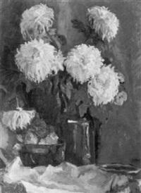 gelbe chrysanthemen by erika abels-d'albert