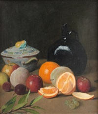 still life with fruit by josef multrus